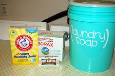 checking out homemade laundry soap