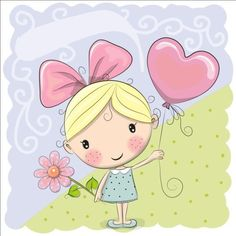 Find Cute Cartoon Girl Balloon Flower stock images in HD and millions of other royalty-free stock photos, illustrations and vectors in the Shutterstock collection. Thousands of new, high-quality pictures added every day. Happy Birthday Quotes, Happy Birthday Images, Birthday Messages, Birthday Pictures, Happy Birthday Wishes, Birthday Greetings, Birthday Cartoon, 2nd Birthday, Cute Cartoon Girl