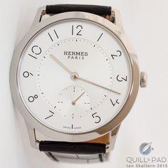 Slim d'Hermès 39.5 mm in stainless steel