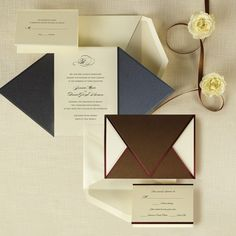 The Wrapped in Love Wedding Invitation is a metallic wedding invitation. Its rich metallic folder set wraps around the pieces, embracing them in a hug.