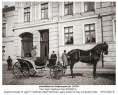 Tilsit, Angerpromenade 16, Lage ??, Kaufmann Albert Werthmann (ganz rechts) mit Frau und Bruder (mitte)