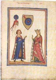 Große Heidelberger Liederhandschrift, (Codex Manesse), Zürich, ca. 1300 bis ca. 1340