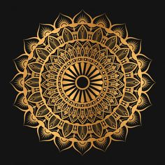 Geometric Mandala In Golden Color Mandala Art, Mandala Stencils, Geometric Mandala, Mandala Drawing, Mandala Painting, Mandala Design, Sacred Geometry Art, Apple Watch Wallpaper, Banner Background Images
