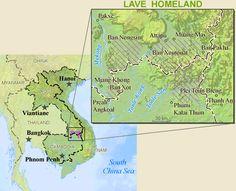 Pray / Brao of Cambodia map
