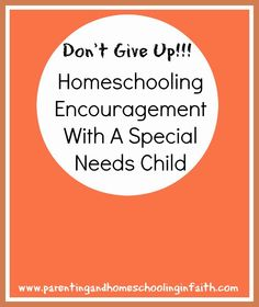 Today's Focus On The Series: Homeschooling & Caring For A Child With Special Needs. Don't forget to subscribe to receive all the posts in this series!!! #homeschooling #blogroundup