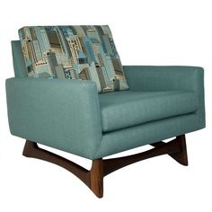 View this item and discover similar for sale at - Comfortable lounge chair newly upholstered. Chair floats on an Adrian Pearsall designed solid walnut base. Mid Century Decor, Mid Century House, Mid Century Style, Mid Century Modern Furniture, Mid Century Modern Design, Mcm Furniture, Furniture Design, Feng Shui, Retro Home