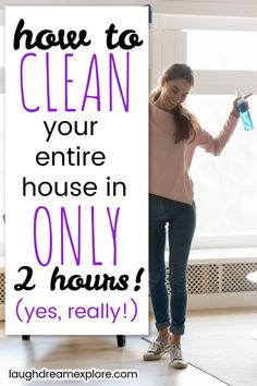 Speed Cleaning, Deep Cleaning Tips, Household Cleaning Tips, Cleaning Checklist, Cleaning Recipes, House Cleaning Tips, Diy Cleaning Products, Cleaning Solutions, Spring Cleaning