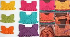 Crochet Colorful Baby Jackets Tutorial