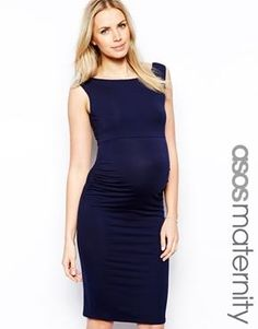 ASOS Maternity Sleeveless Bardot Dress.