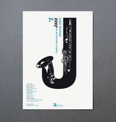 Poster for 7º Festival Internacional de Jazz de Alicante by Estudio Ibán Ramón.