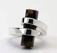 Tiger Eye Gemstone Sterling Silver Ring size 7