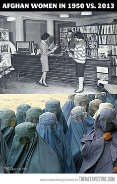 Women in these countries look miserable & frightened -- in my opinion it is a crime to treat women this way.