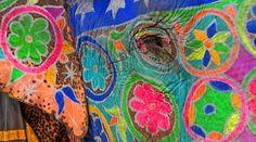 Elefante pintado para los festivales