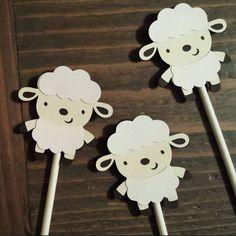 Lamb Party Lamb Cupcake Toppers 1 dozen by LittleBitsHomemade