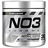 Cellucor NO3 Chrome Powder Nitric Oxide Pump Amplifier Pre Workout Powder Unflavored 30 Servings