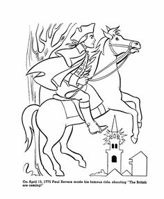 Paul Revere Coloring Sheet