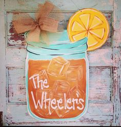 Mason Jar Door Hanger Summer Door Hanger by BluePickleDesigns, $45.00