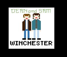 Dean and Sam Supernatural Counted Cross Stitch Pattern by LahLahCreations