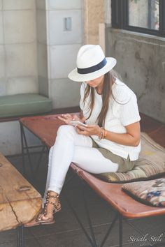 Outfits 2016, Summer Outfits, Autumn Summer, Fall, Valentino Rockstud, Street Fashion, Panama Hat, Friday, Style Inspiration