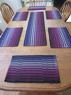 Ravelry: marydargie's Halcyon Rep Weave Mats