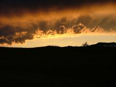 """Natural cloudscape photo taken in Billings, MT. I call this """"Volcanic Sunset"""""""