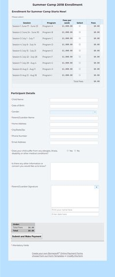 Multi tabs Form for School Admission by Borneosoft Online Forms - enrollment form