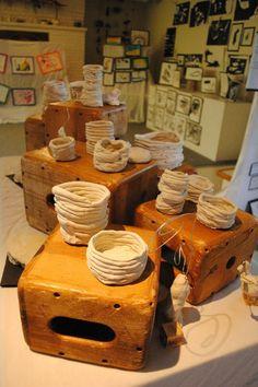 Clay creations art display - Creative Children's Center ≈≈