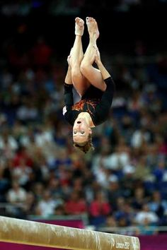 Celine Van Gerner of the Netherlands competes on the balance beam in the Artistic Gymnastics Women's Individual All-Around final on Day 6 of the London 2012 Olympic Games at North Greenwich Arena on August 2, 2012 in London, England. (Photo by Julian Finney/Getty Images)
