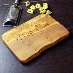 Personalised Rustic Chopping Cheese Board