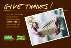 Enter for a chance to WIN a Give Thanks package!