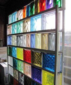 I'd like to use colored glass blocks for the wall of our shower.