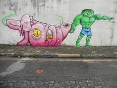 Street Art by Cranio...kick ass!!