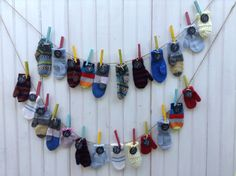 Knitted Colorful Mittens Advent Calendar  Christmas by 4onemore, $100.00