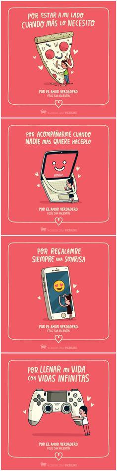 Pictoline | Por el amor verdadero ♥ [14 Febrero - San Valentin - Tarjetas - Diseño]
