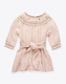 Poco dress:Baby cotton dress with smocks and embroideries$63 $105