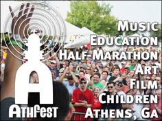 Athfest is the annual art and music festival in Athens, GA. Happening June 21-23 in downtown Athens, on Washington Street.