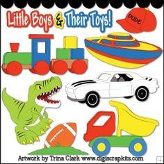 Toys For Boys 1- Non-Exclusive Trina Clark Clip Art
