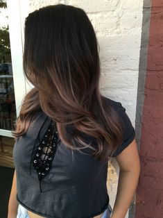 Black dark brown ombré balayage violet ash blonde chocolate 2016 hair