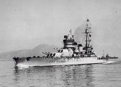 """Giulio Cesare"" was a Conte di Cavour-class Italian battleship of the Regia Marina Navy. Shown here in 1938."
