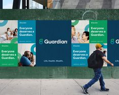 New Logo and Identity for Guardian by The Working Assembly - corporate branding design Office Branding, Event Branding, Corporate Branding, Corporate Design, Logo Branding, Web Design, Logo Design, Academia Online, Banners