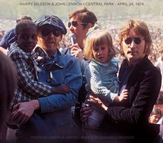Harry Nilsson and John Lennon, Central Park NYC, 24 April 1974. Photo: Joseph Gross