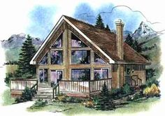 Contemporary House Plan 58540 Elevation
