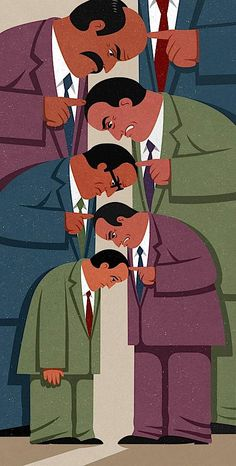 Meaningful Editorial Illustrations by John Holcroft 6....The man is keeping you down :(