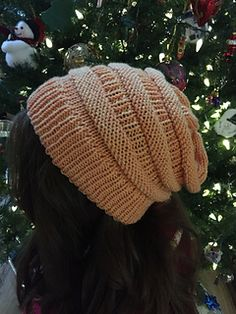My daughter saw a hat in a store that she liked, I couldn't find on like it as a pattern, so I cobbled together my own version of the hat and wrote up the pattern. The folded brim gives extra warmth on the ears while the top of the hat has a slouchy fit.