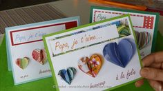 Carte Fete des Peres coeurs Papa je t'aime