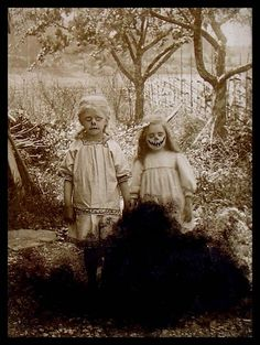 Creepy kids Vintage Halloween