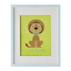 Tableau lion 40 x 50 cm GASTON | Maisons du Monde
