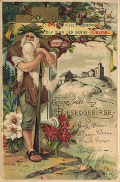 Rübezahl German Mythology, Prussia, Illustration, Westerns, Germany, Mountains, City, Saga, Poland