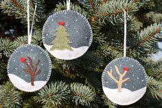 Set of 3 - Felt Christmas Ornaments. $20.00, via Etsy.