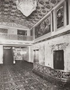 Byrd Theater foyer, 1928; Urban Scale Richmond: THE MURALS AT RICHMOND'S HISTORIC BYRD THEATRE